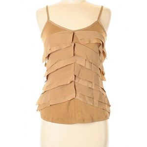 OLD NAVY Camel Tan Ruffle Tank